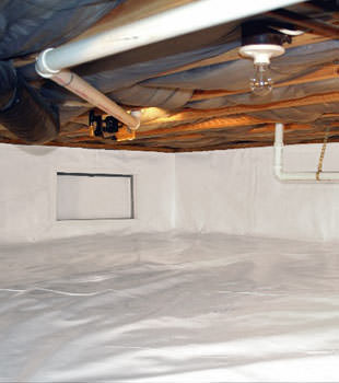 A complete crawl space repair system in Orem