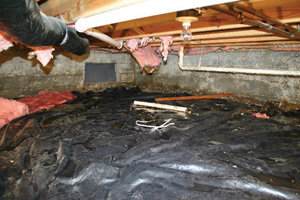 Crawl Space Repair Before in Salt Lake City