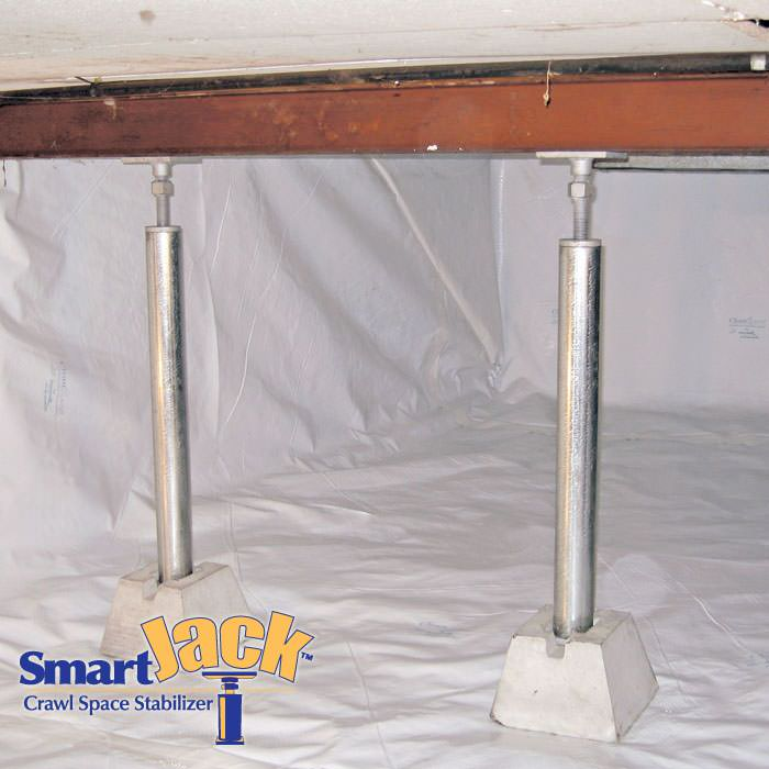 Jack Posts For Basements : Crawl space structural support jacks installed in ut