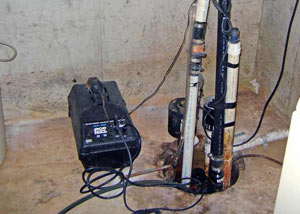 Pedestal sump pump system installed in a home in Tooele