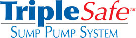 Sump pump system logo for our TripleSafe™, available in areas like Centerville