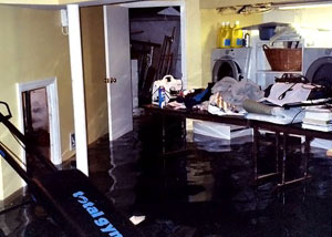 A laundry room flood in South Jordan, with several feet of water flooded in.