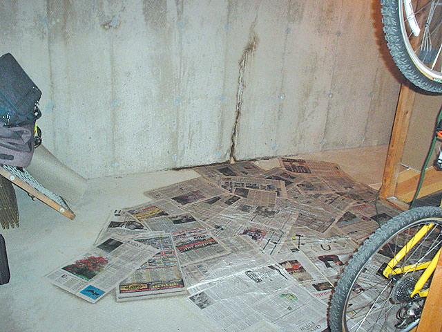 Leaking Wall Crack ...