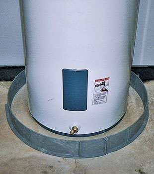 An old water heater in Magna, UT with flood protection installed