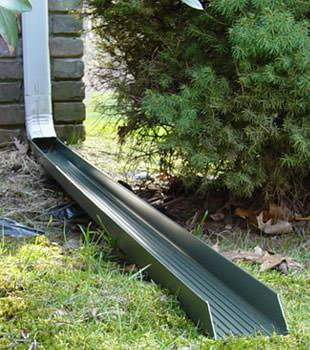 Gutter downspout extension installed in Vernal