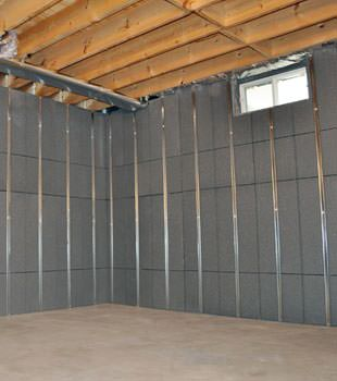 Installed basement wall panels installed in Park City