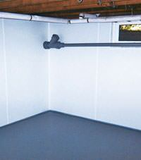 Plastic basement wall panels installed in a Bountiful, Utah home